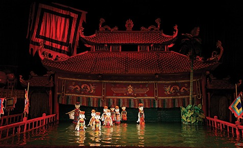 A traditional water puppet show, Hanoi